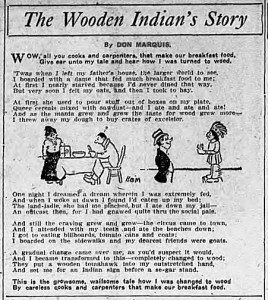 """Don Marquis' """"The Wooden Indian's Story"""""""