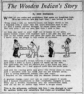 "Don Marquis' ""The Wooden Indian's Story"""