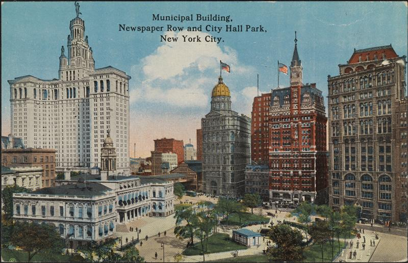 Postcard of New York's Newspaper Row