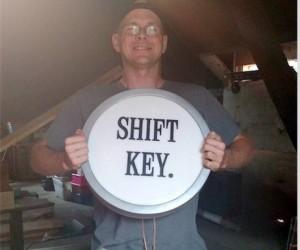 Shift Key on the Blunderwood Portable