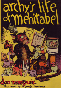 "Dust jacket for ""archys life of mehitabel"""